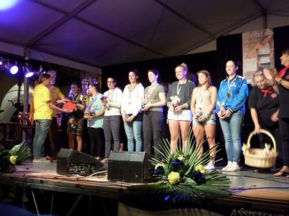 La premiazione della Lombardia vincitrice del Palio Rosa.