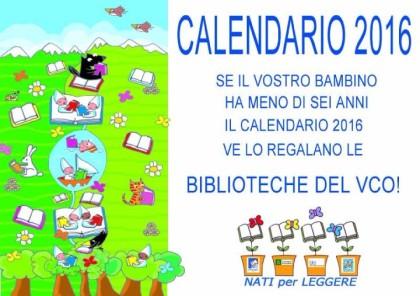 nati per leggere calendario
