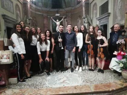GIOVANI MUSICISTI ALLA PATRONALE DI UNCHIO